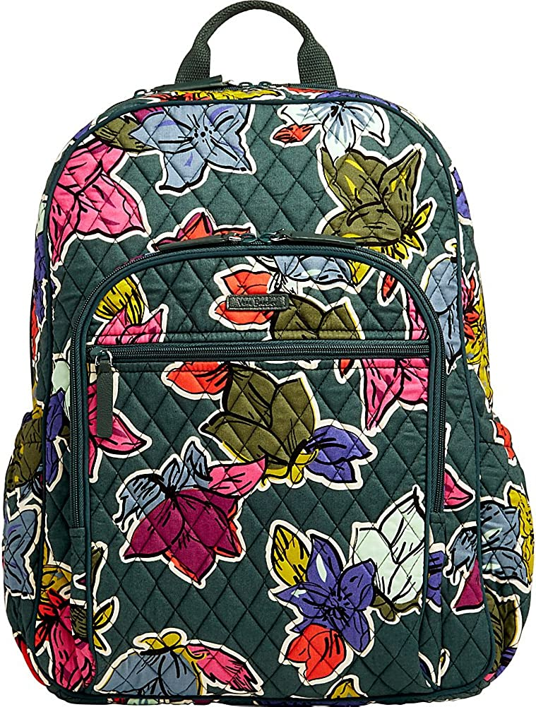 Vera Bradley Campus Tech Backpack Falling Flowers Signature Cotton