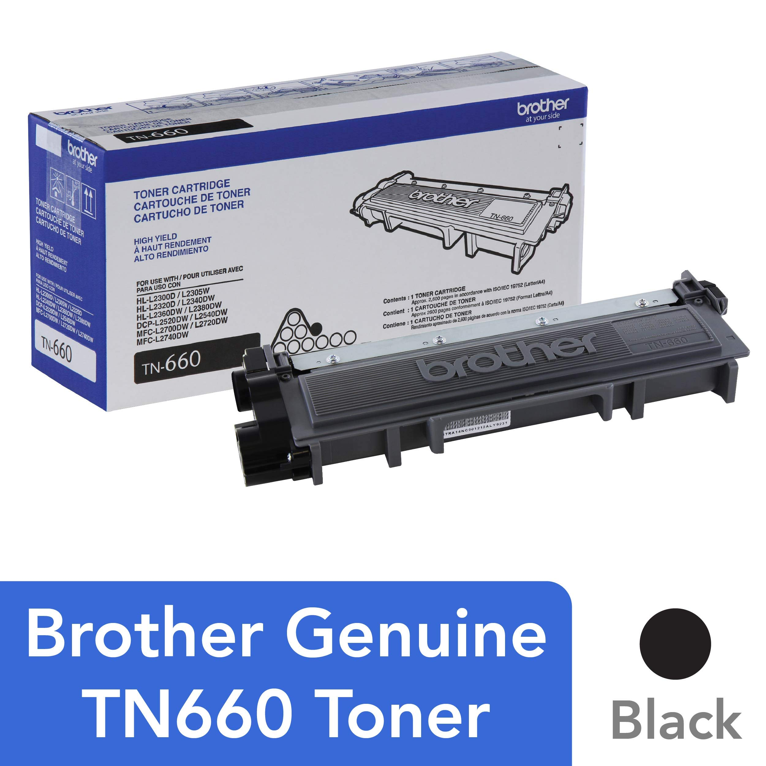 Brother TN660 High Yield Black Toner product image
