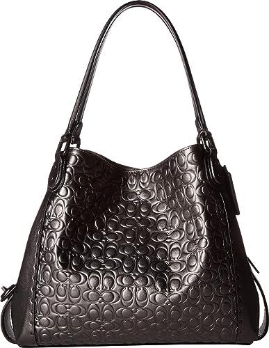 865cd96dbe COACH Women s Metallic Signature Leather with Border Rivets Edie 31 Shoulder  Bag V5 Metallic Graphite One Size  Handbags  Amazon.com