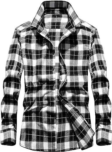Camisa Camisa de Manga Larga teñida en Hilo a Cuadros de ...