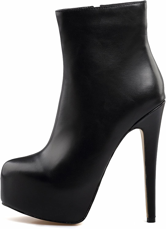 Amy Q Sexy Women's Black Round Toe