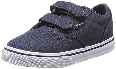 Vans ATWOOD V, Unisex-Kinder Sneakers, Schwarz ((Canvas) Blk/Wht 187), 26 EU