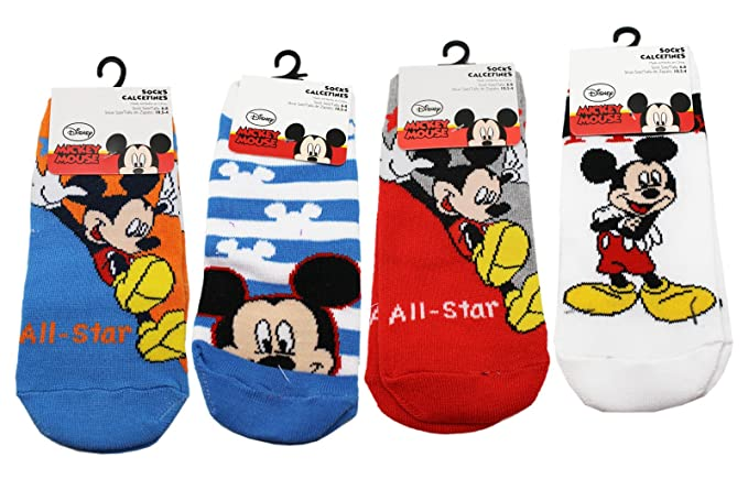 Disneys Mickey Mouse Assorted Color/Design Kid Sock Set (3 Pairs, ...