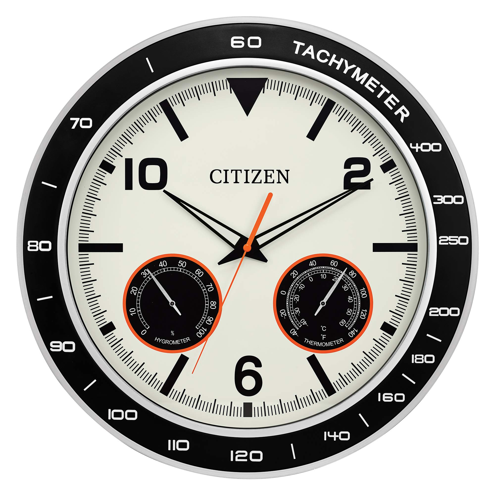Citizen CC2019 Outdoor Wall Clock, Black