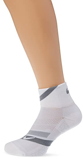 Nike Dry Cushion Dynamic Arch Quarter Calcetines Mixta, Color White/Wolf Grey/White