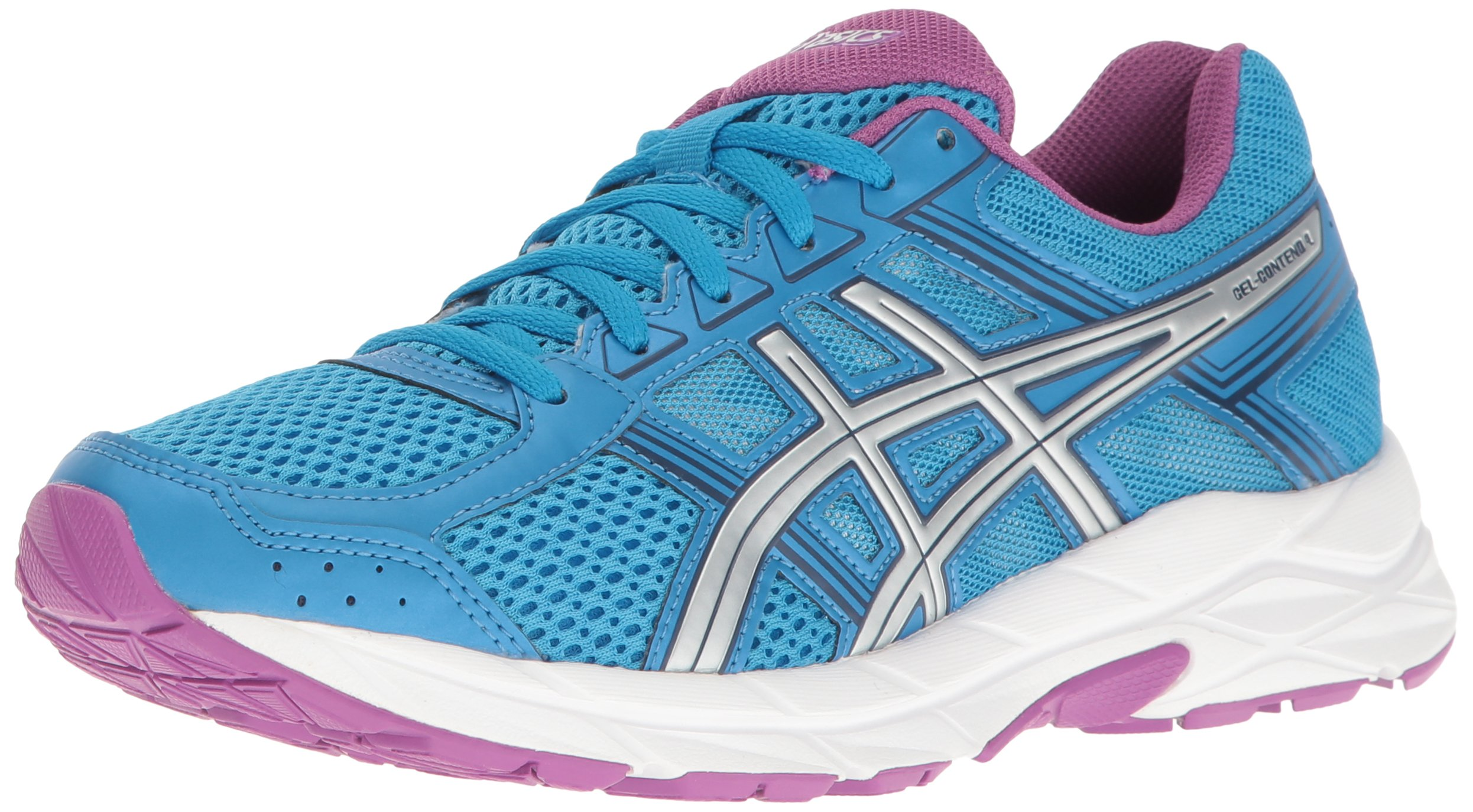 ASICS Women's Gel-Contend 4 Running Shoe, Diva Blue/Silver/Orchid, 5 M US