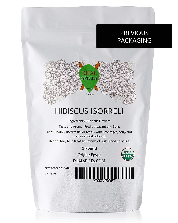Amazon Organic Hibiscus Flowers Tea 1 Pound 200 Cups 7 Cents