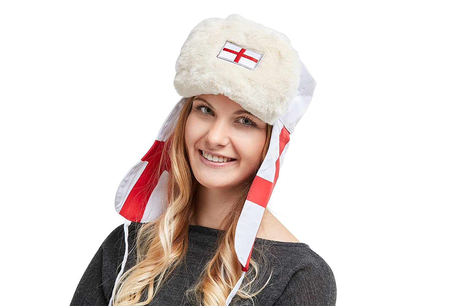 2ca69eb7e England World Cup Fan Item 2018. Traditional Russian Hat Ushanka ...
