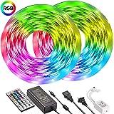 Led Strip Lights 32.8ft 10m UMICKOO Color Changing LED Lights Strip with SMD 5050 RGB 300 LEDs Light Strips and 44 Keys IR Re