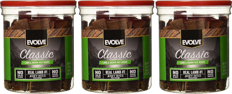 Evolve Nature's Menu Lamb and Rice Jerky - 22oz Jars (3 Pack)