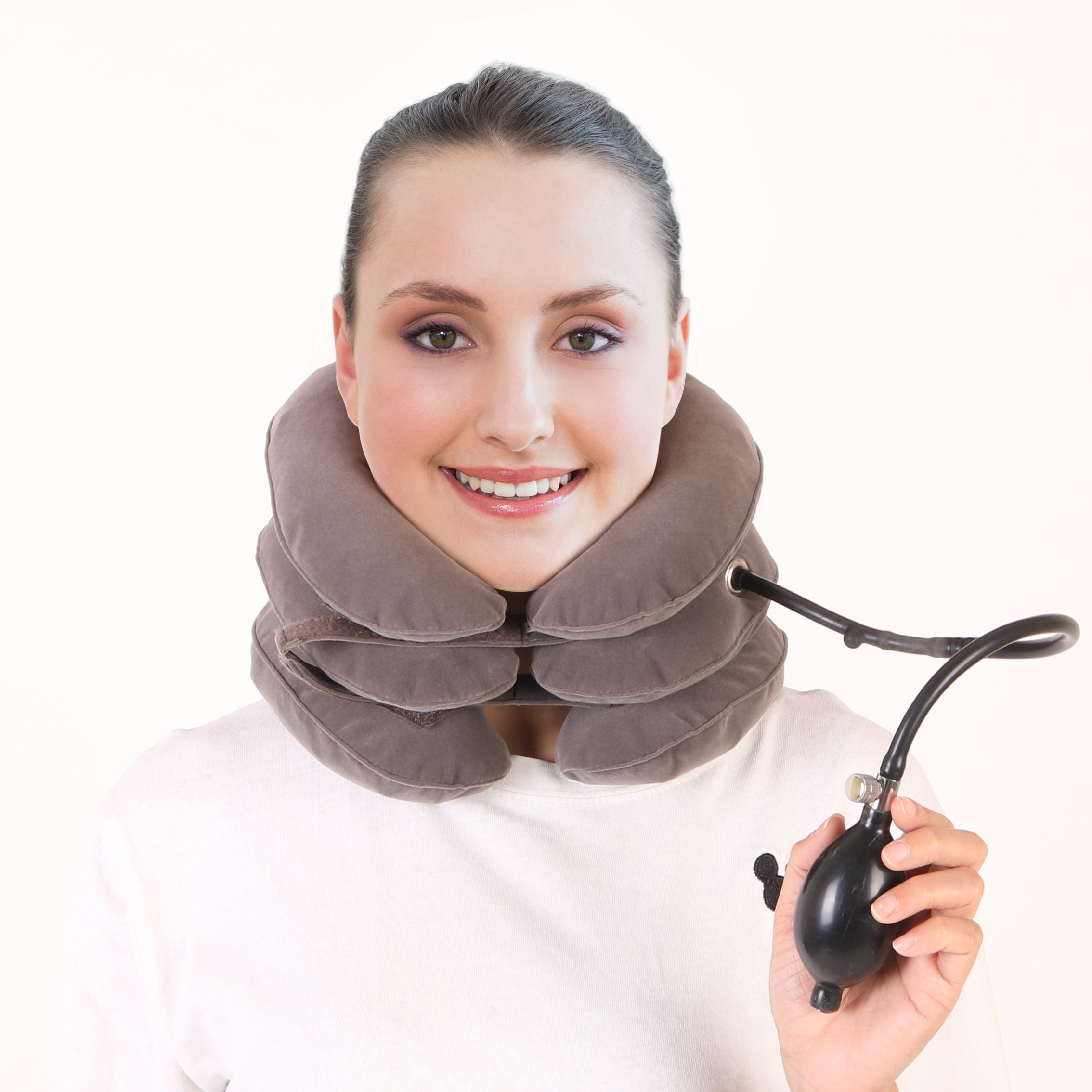 Neck Traction Device - Effective and Instant Relief for Chronic Neck Shoulder Back Pain/ Relax and good for health – easy use every where – at home and your company