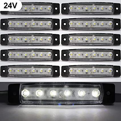 Luces de marcador lateral de LED,Indicadores de posición Blanco ...