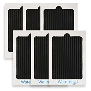 Waterdrop Refrigerator Air Filter, Compatible with EAFCBF, PAULTRA, SCPUREAIR2PK, 242047801, 242061001, 241754001, Pack of 6, Package May Vary