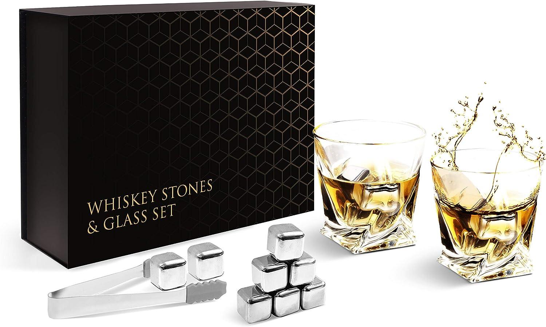 Boyfriend Whiskey Stones Gift Set Dad Kollea Whiskey Glass and ...