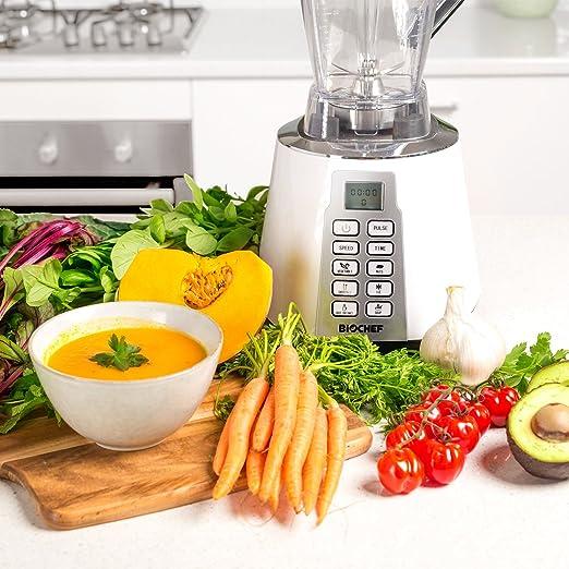 Bio Chef Nova - Batidora de Vaso | Blender | Batidora Americana de Vaso | 1600W | 28.000RPM | BPA Free | 6 programas (Blanco): Amazon.es: Hogar