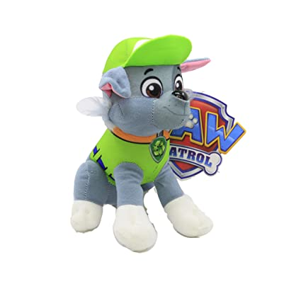 amazon com disney 8 paw patrol character rocky stuffed animal