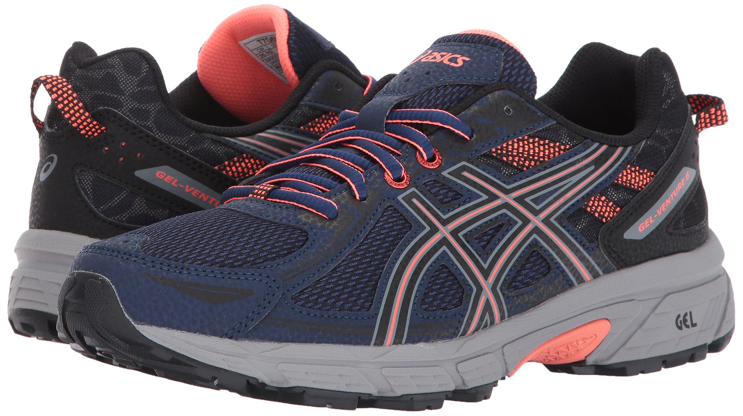 ASICS Women's Gel-Venture 6 Running-Shoes,Indigo Blue/Black/Coral,5 Medium US by ASICS (Image #6)