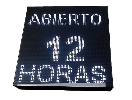 CARTEL LED PROGRAMABLE LETRERO LED PROGRAMABLE PANTALLA LED PROGRAMABLE (64 * 64 cm, BLANCO) ROTULO LED PROGRAMABLE CARTEL ELECTRÓNICO ANUNCIA TU ...