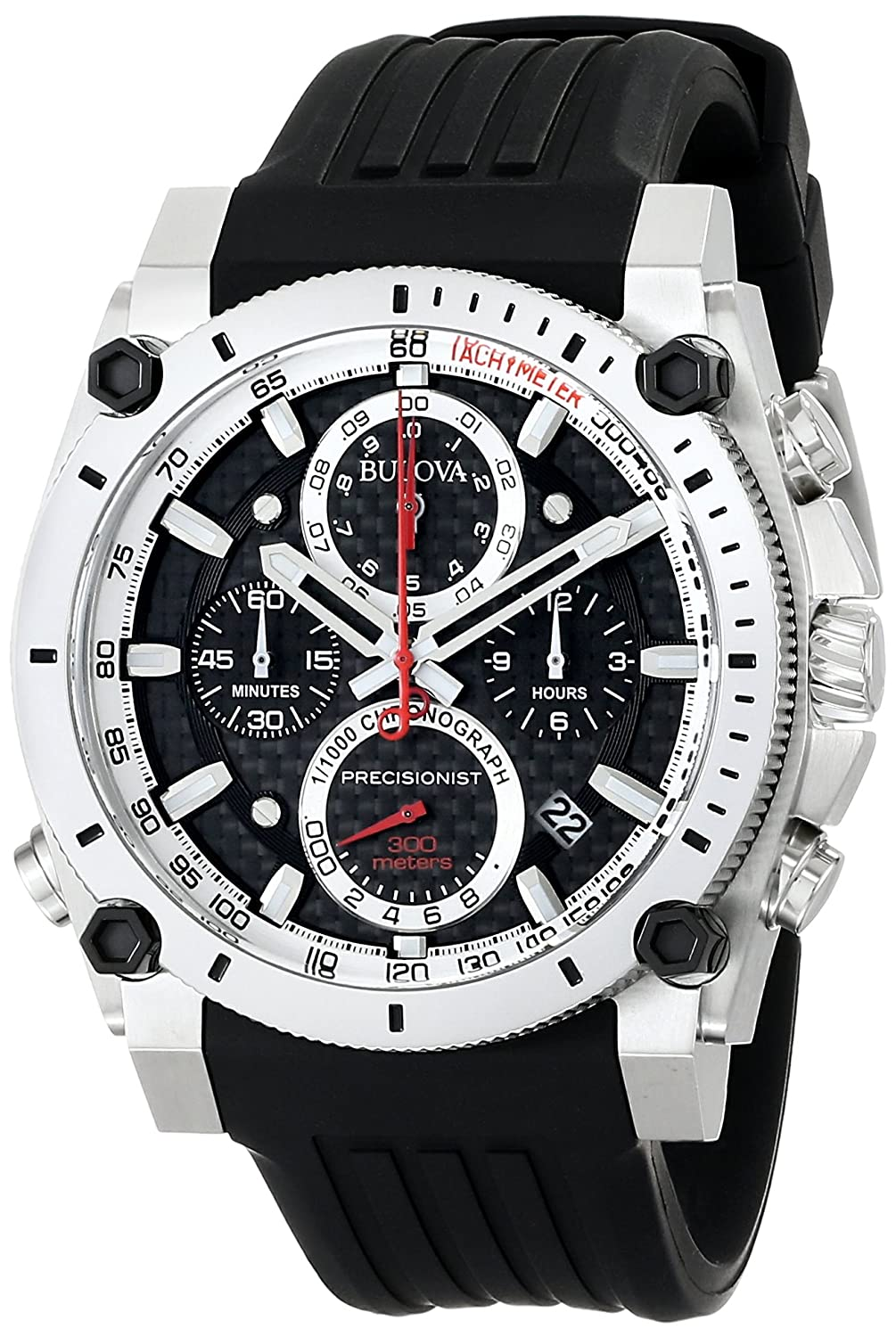 0bbc41e90 Amazon.com: Bulova Men's 98B172 Precisionist Chronograph Watch: Bulova:  Watches