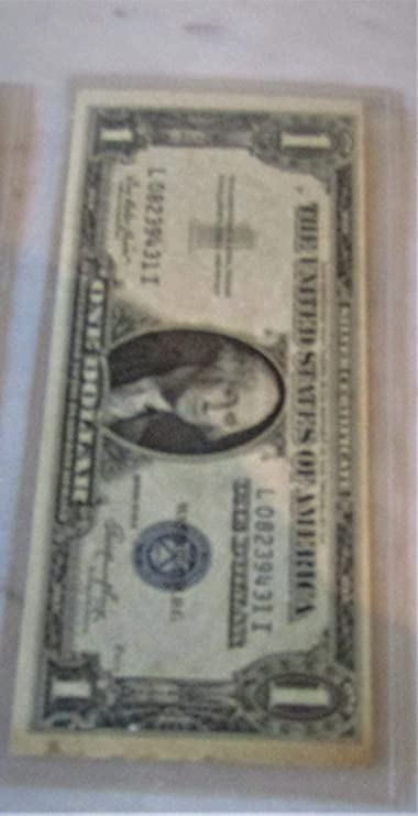 1957 $1 One Dollar Silver === 1 FREE for every 10 notes you buy === great value