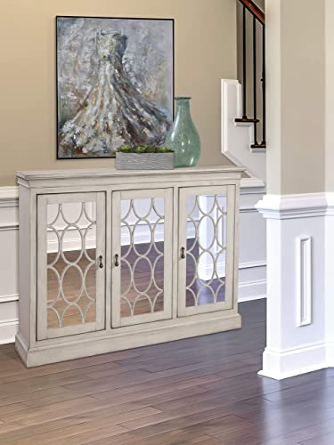 Martin Furniture Felicity Three Door Accent Cabinet, White