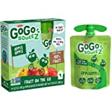 GoGo squeeZ Applesauce, Apple Apple, 3.2 Ounce (4 Pouches), Gluten Free, Vegan Friendly, Unsweetened Applesauce…