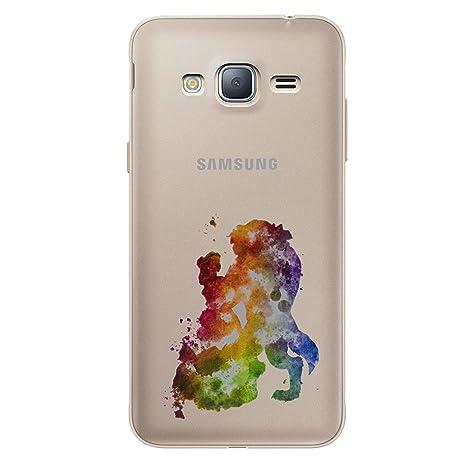 7aa6210737510f Fan Art Étui Coque de Téléphone pour Samsung Galaxy J3 2016   Silicone Doux  Gel