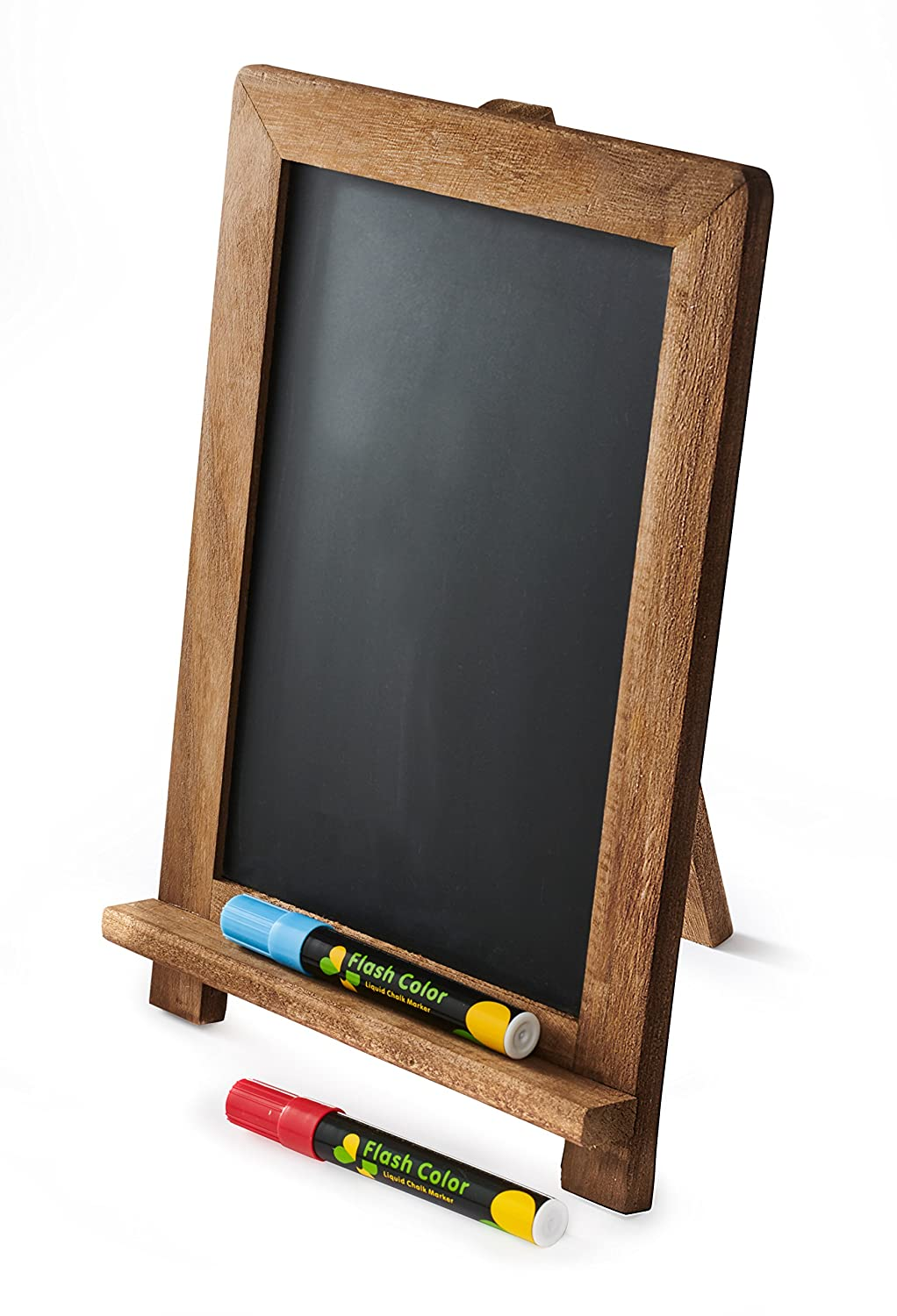 Rustic Chalkboard: Standing and Hanging Easel, Non-Porous Blackboard with Magnetic Surface, Vintage Style Wooden Frame, Decorative Sign for Weddings and Parties, Menu Display for Restaurants By Gaard