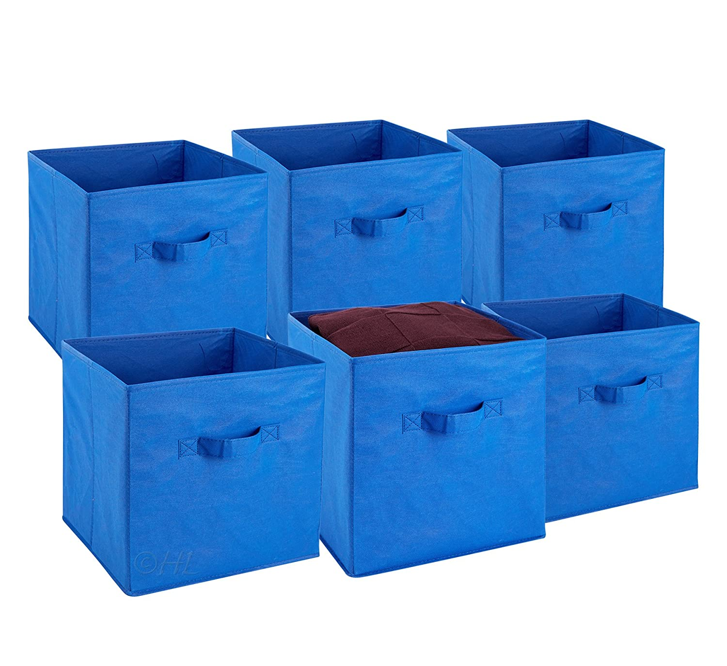 foldable cube storage bins 6 pack these decorative fabric storage cubes are ebay. Black Bedroom Furniture Sets. Home Design Ideas