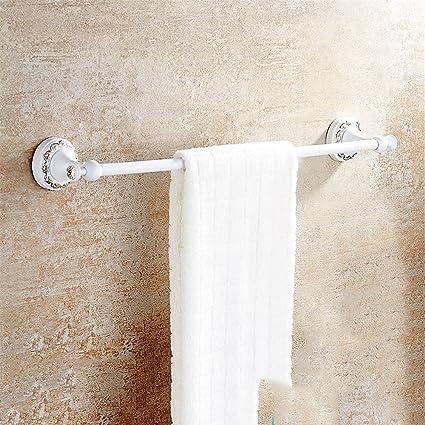 Hlluya Toallero Retro toallero Plegable Grill Pintura Blanca Toalla Racks Rack Colgando en el Cuarto de