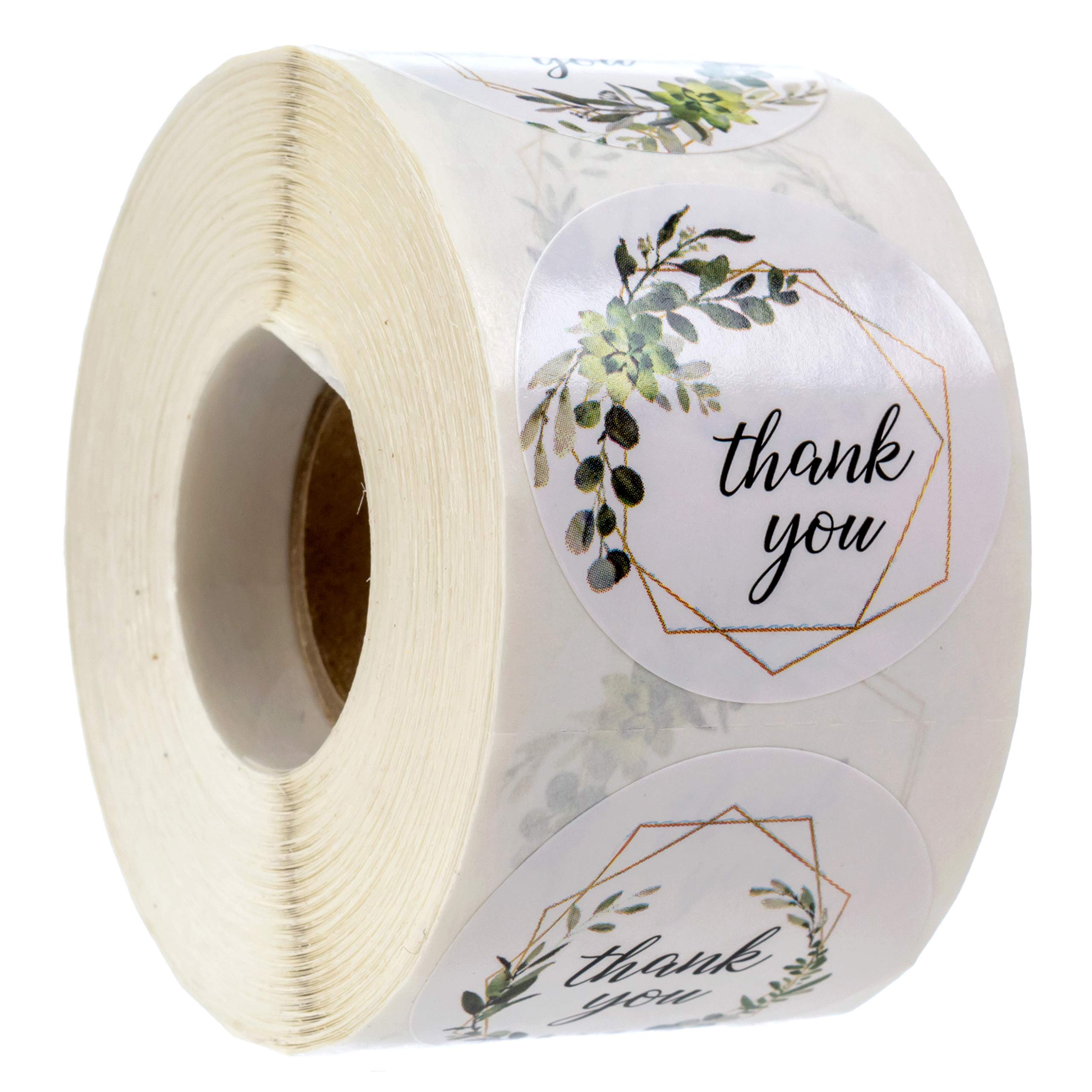 """Greenery Frames Thank You Stickers / 4 Alternating Designs / 500 1.5"""" Boho Thank You Stickers"""