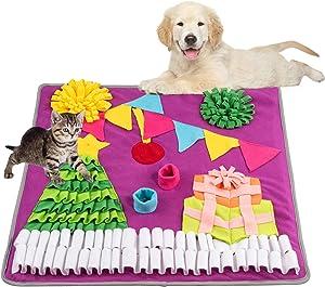 Petphabet 27.6 Inch Large Dog Snuffle Matl,Washable Interactive Dog Toys Encourages Natural Foraging Skills