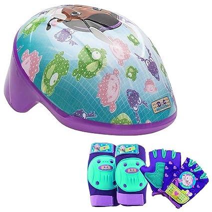 22316a37b71 Image Unavailable. Image not available for. Color: Disney Doc McStuffins  Girls Bike/Skate Helmet Pads & Gloves - 7 Piece Set