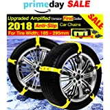 Car Snow Chains Snow Tire Chains for Most Cars Anti-slip Car Chains Car Emergency Chains All Season Anti-skid Snow Cables Car Cables SUV Tire Cables for Emergencies Tire Width: 185-295mm/7-11''