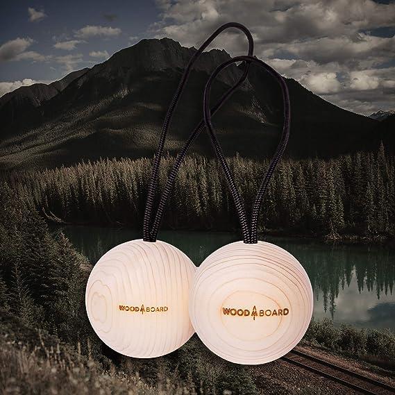 WOOD BOARD Bolas de madera colgantes ideales para practicar ...