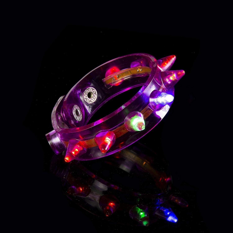 Promoción por tiempo tiempo tiempo limitado 72 Pulseras LED Destellos Colores mixtos Brillo Calidad Spikey Iluminador Brillante para Fiestas Raves Bailes y Eventos Celebraciones Bolsos Fiesta Dance Rave Conciertos Resplandor cac137