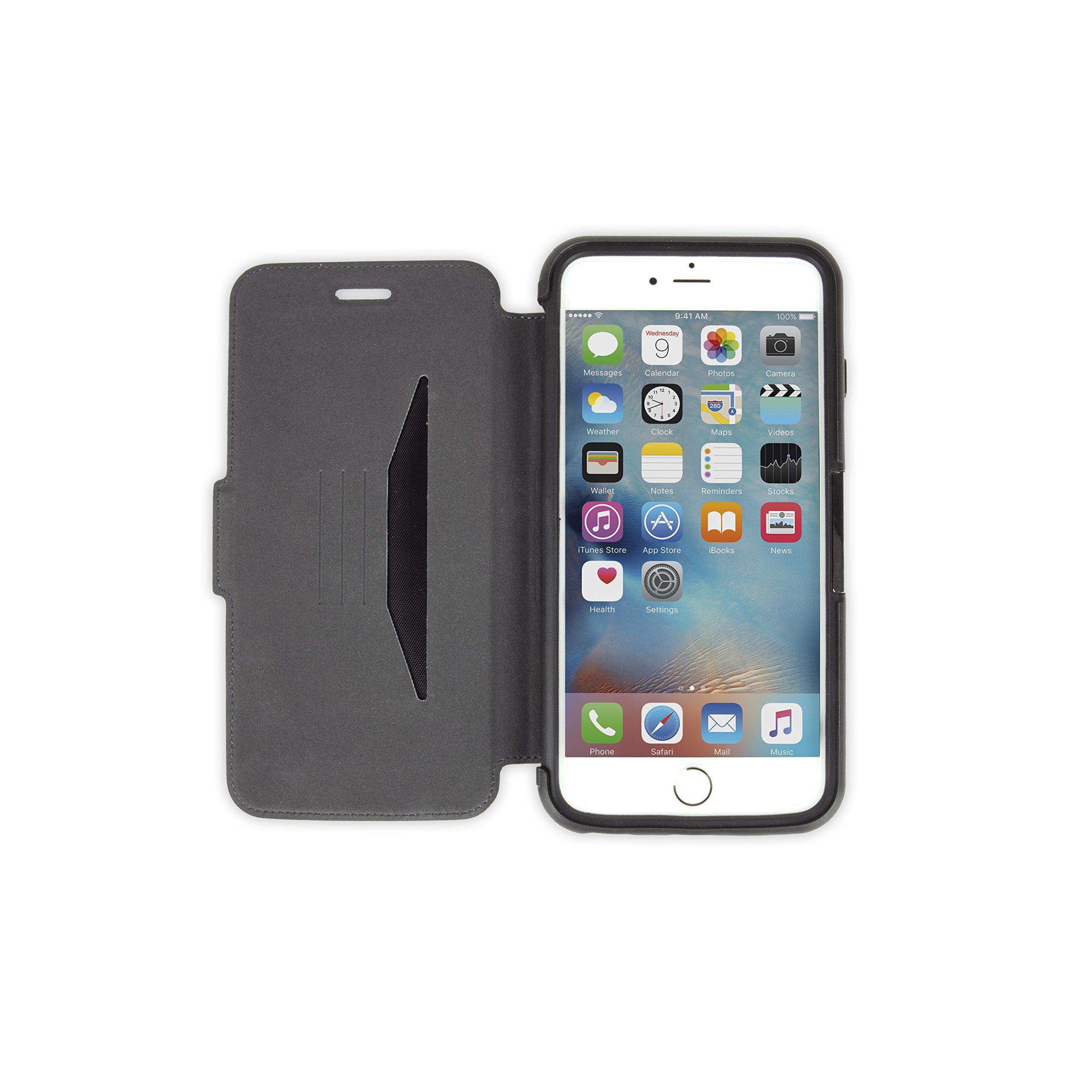 OtterBox STRADA SERIES iPhone 6 Plus/6S Plus Case- Retail Packaging - NEW MINIMALISM (BLACK/DARK GREY/BLACK LTHR FOLIO) by OtterBox (Image #3)