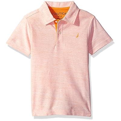 Nautica Little Boys' Short Sleeve Colorblock Deck Shirt,Orange,X-Large/7X