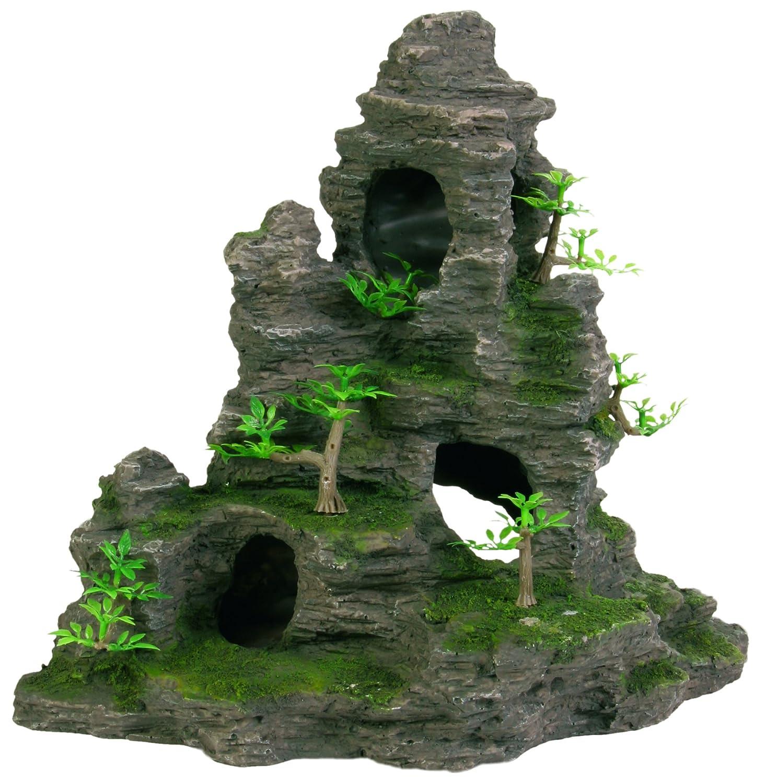 Rocher escalier avec plante, pour aquarium, 22 cm Trixie 8853