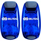 BLITZU Cyborg LED Safety Light 2 Pack + Free Bonuses - Clip On Running Lights Runner, Kids, Joggers, Bike, Dogs, Walking The Best Accessories Your Reflective Gear, Nighttime, Bicycle Cycling