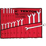 TEKTON 1938 MaxTorq Combination Wrench Set, Metric, 10 mm - 32 mm, 16-Piece