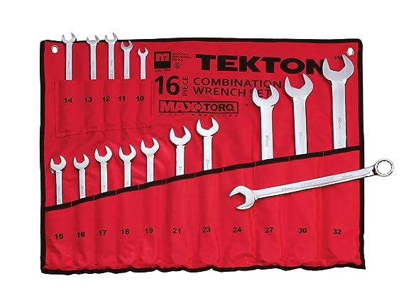 TEKTON 1938 MaxTorq juego de llaves combinadas, métricas, 16 piezas: Amazon.es: Bricolaje y herramientas
