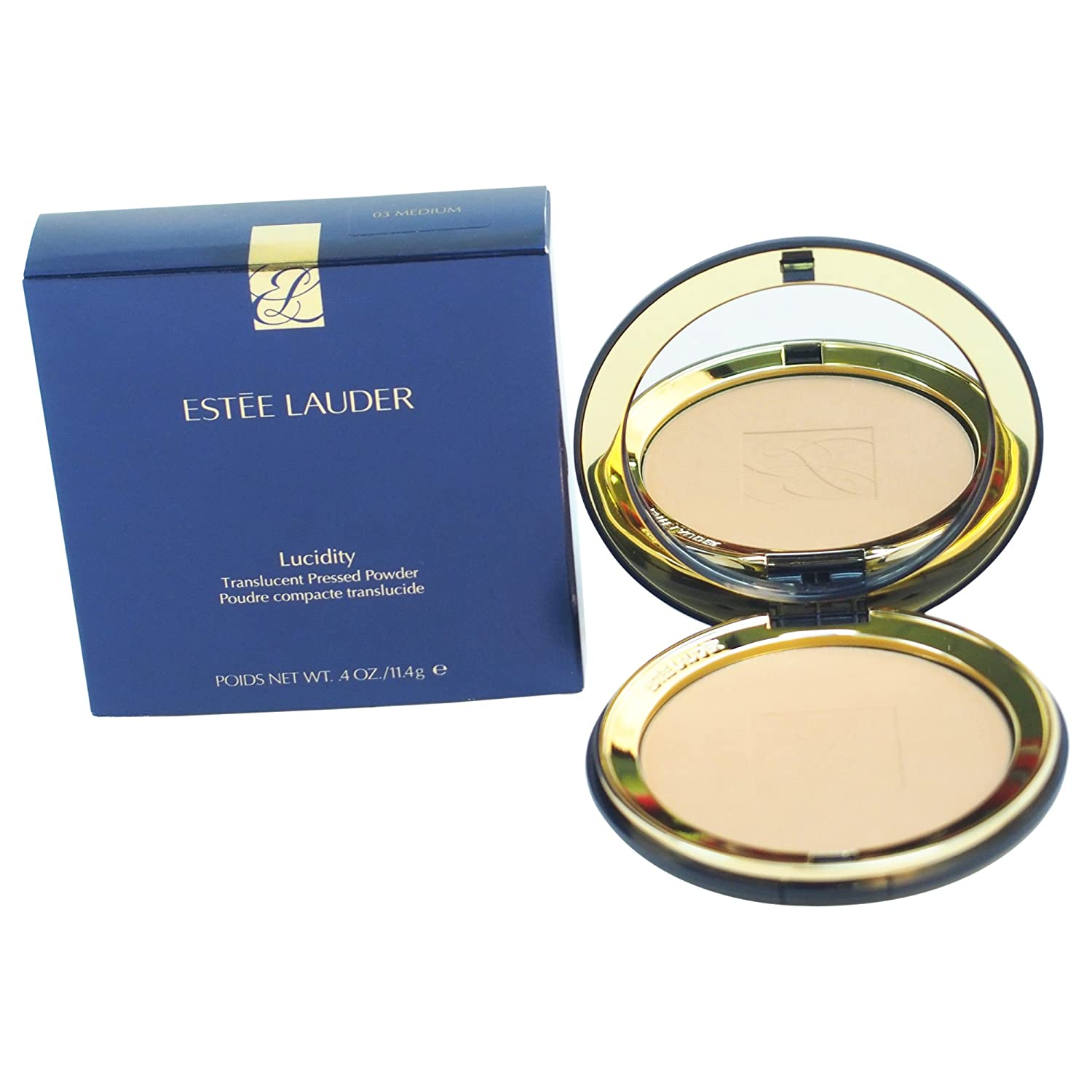 Estee Lauder Lucidity Translucent Pressed Powder for Normal Combination and Dry Skin, No. 03 Medium, 0.4 Ounce, W-C-4829 027131083153