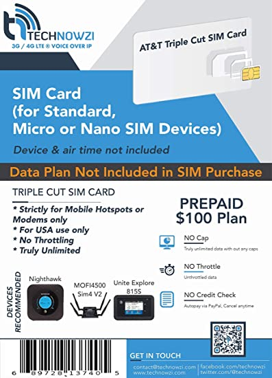 NO SIM AT/&T Unlimited 4G LTE Data Plan Great for Rural Areas