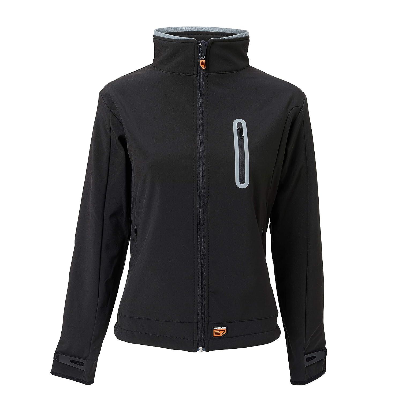 30seven beheizbare Softshelljacke für Frauen | beheizte Jacke mit aufladbarem Akku | Größen S-XXL | schwarz
