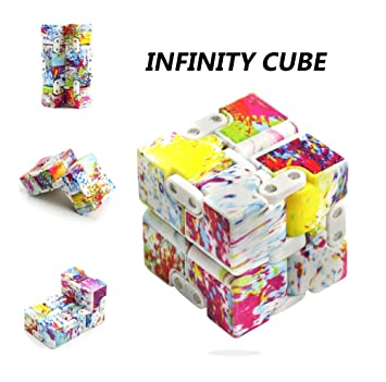infinity cube amazon. infinite cube, p.lotor magic infinity flip cube edc fidgeting square shaped release stress amazon n