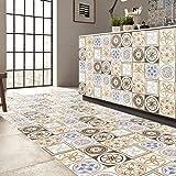 (25 PIECES) carrelage adhésif 20cm * 20cm cm - Coloré(TM) - Adhésive décorative à carreaux pour salle de bains et cuisine Stickers carrelage - collage des tuiles adhésives