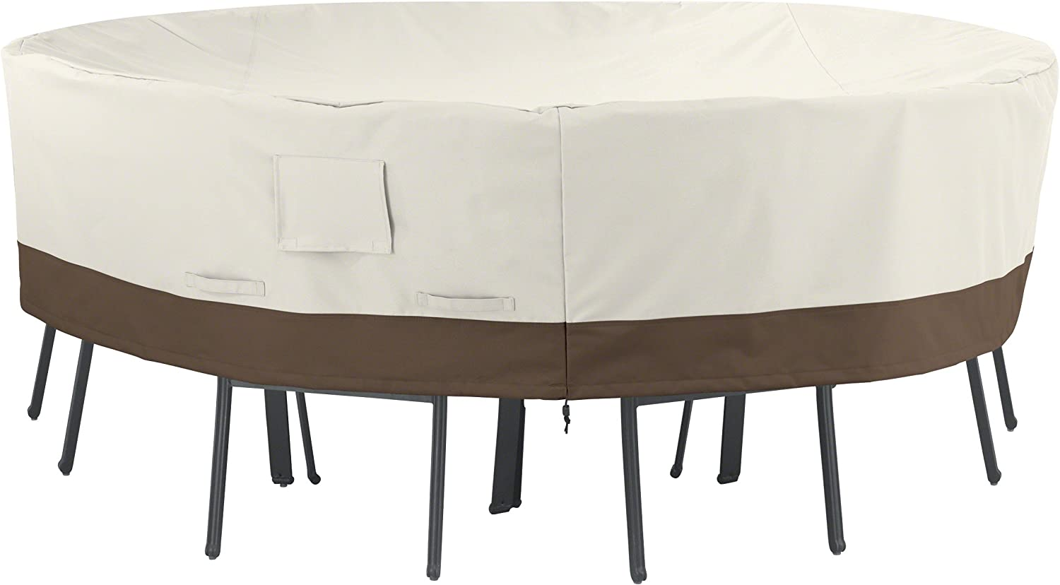 Amazon Basics Round Patio Table and Chair Set Cover, Large