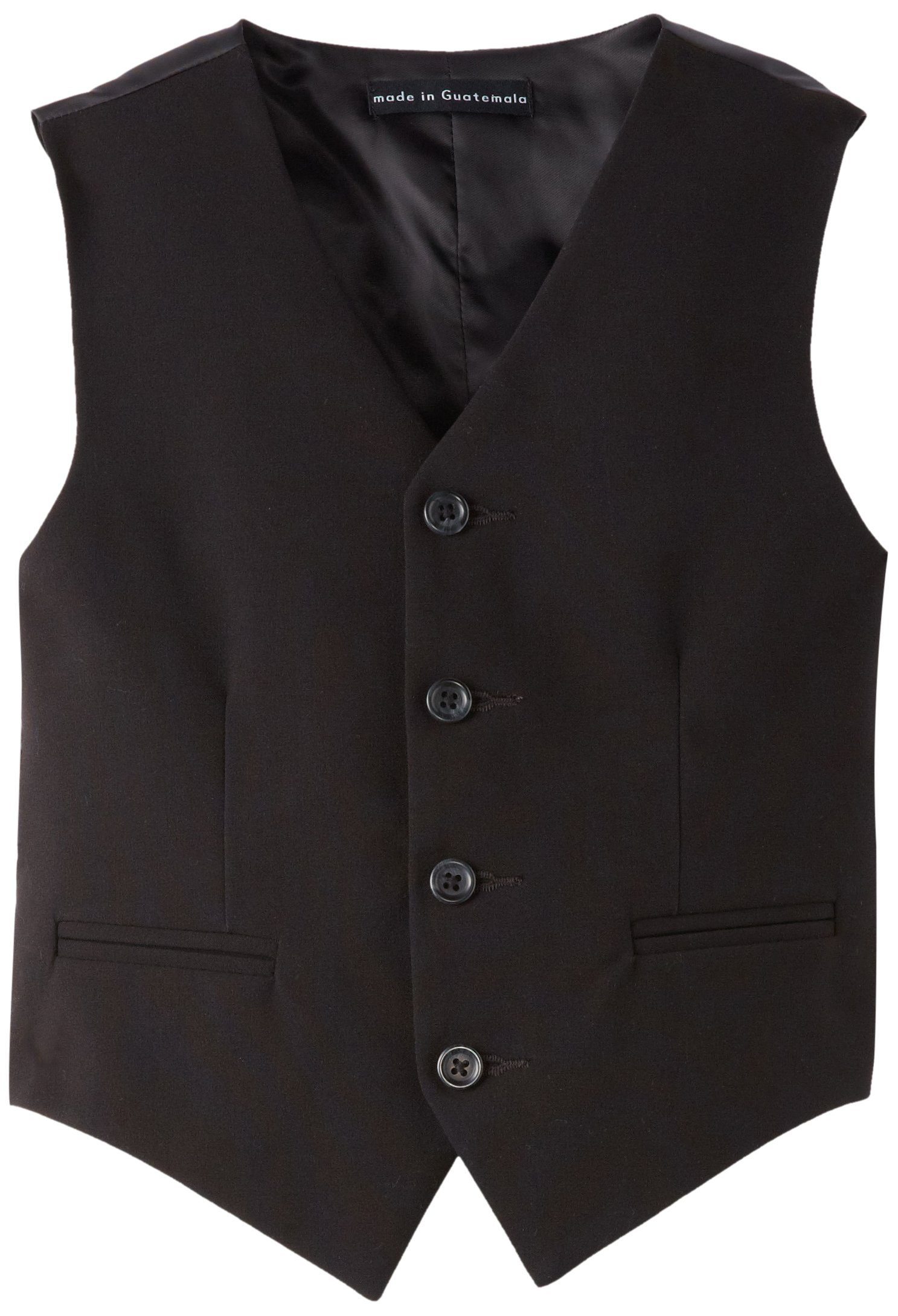 Calvin Klein Dress Up Big Boys' Bi-Stretch Vest, Black, Small by Calvin Klein (Image #2)