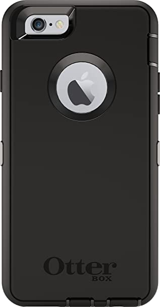 aef2afcdc392 Amazon.com  OtterBox DEFENDER iPhone 6 6s Case - Retail Packaging - BLACK   Cell Phones   Accessories